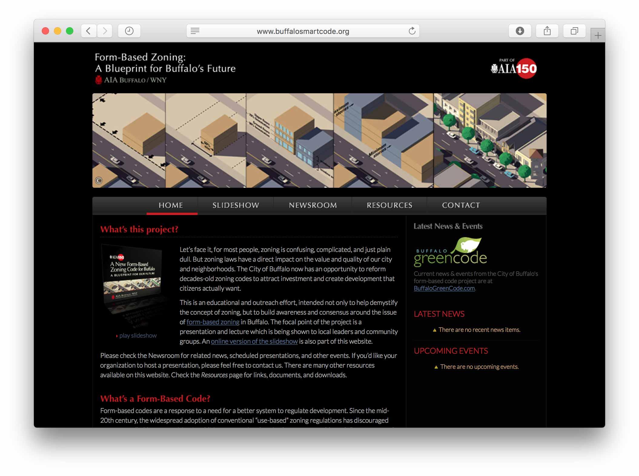 Buffalo SmartCode: Education & Outreach | Chuck Banas Design: Urban